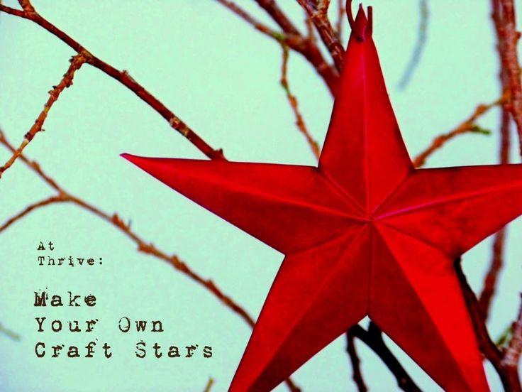 Thrive: Make Your Own Tin Craft Stars: Child Stars, Dollar Stores Crafts, Tins Stars, Baking Pan, Cakes Pan, Diy Craft, Tins Crafts, Christmas Stars, Metals Stars