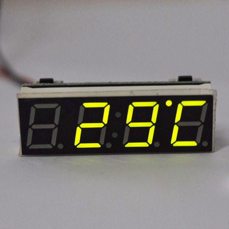 Ornamentos Del Coche caliente Durable Display LCD Digital de Coches Reloj Electrónico 2016 Nuevo 3 in1 Coche Calendario Automotriz Termómetro Reloj
