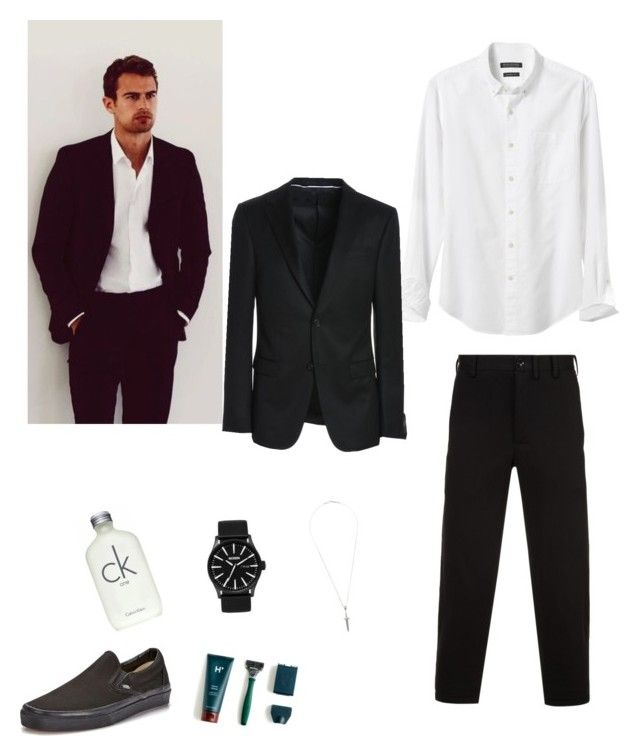 """First men outfit I made"" by alaya-bolds1 ❤ liked on Polyvore featuring Banana Republic, Yohji Yamamoto, Vans, Nixon, Roman Paul, Calvin Klein, J.Crew, Z Zegna, men's fashion and menswear"