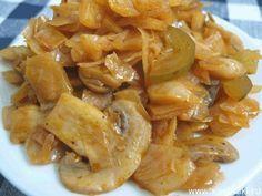 Вкусная тушеная КАПУСТА с грибами и солеными огурцами