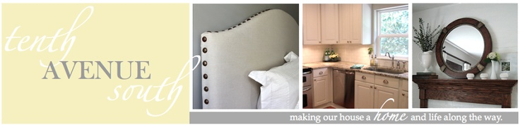 tenth avenue south: New Drop Cloth Headboard Make this one found here