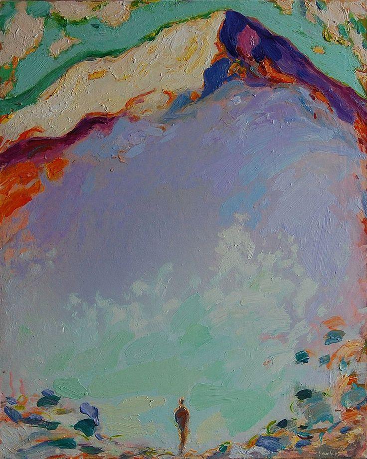 Tuomo Saali, Transsendenssi, oil on canvas, 2009, 80x65cm