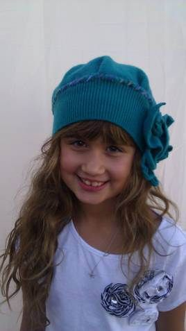 cute hat from recycled sweater