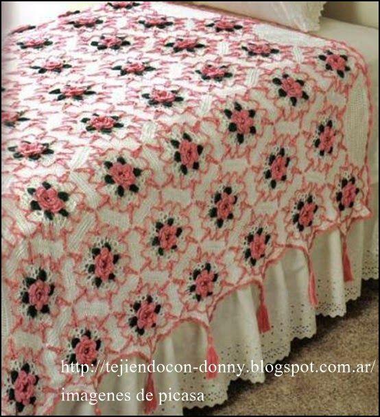 17 best images about mantas tejidas on pinterest - Patrones de mantas a crochet ...
