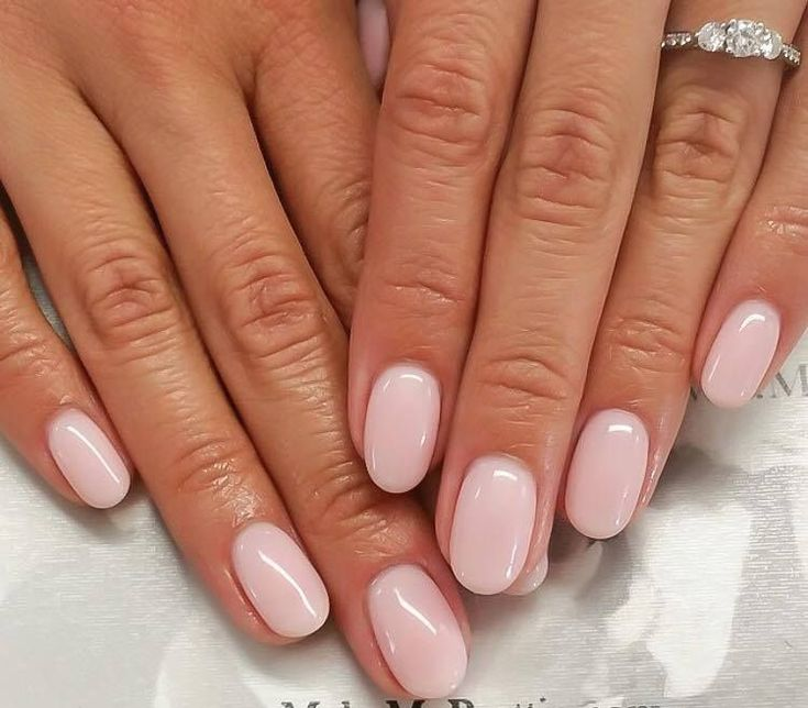 Oval short nails