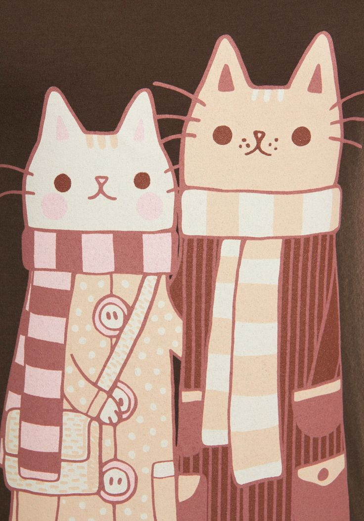 Happy Cat-rimony t-shirt design - love these two hipster cats in striped scarves