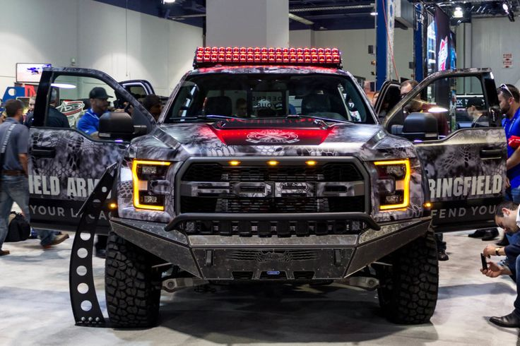 Springfield Armory Raptor build for SEMA in the Addictive Desert Designs booth