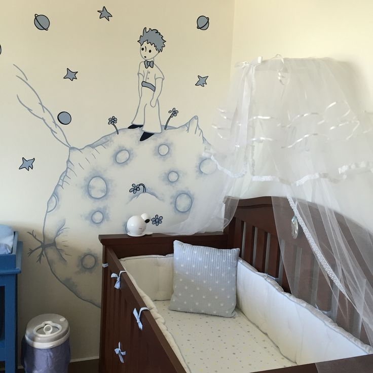 Mural de el principito cuarto de beb mat as the petit for Mural para habitacion