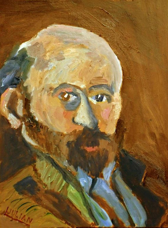 Portrait of Paul Cezanne after his self portrait of 1880 An