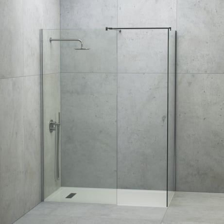 Lusso Stone Linear Complete Walk In Shower Enclosure Kit B All