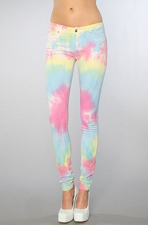 SO EFFING CUTE!!!!!!  The Rainbow Tie Dye Jean by Tripp NYC