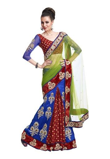 Lehnga Style Net & Art Silk & Viscos Sarees. 7950 INR