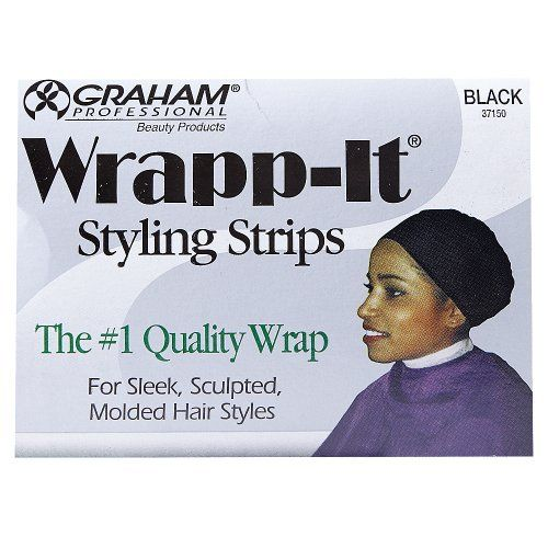 Wrapp-It Styling Strips. 40 Strips in each package. Won't bleed with use of relaxers. For sleek, sculpted, molded hairstyles.