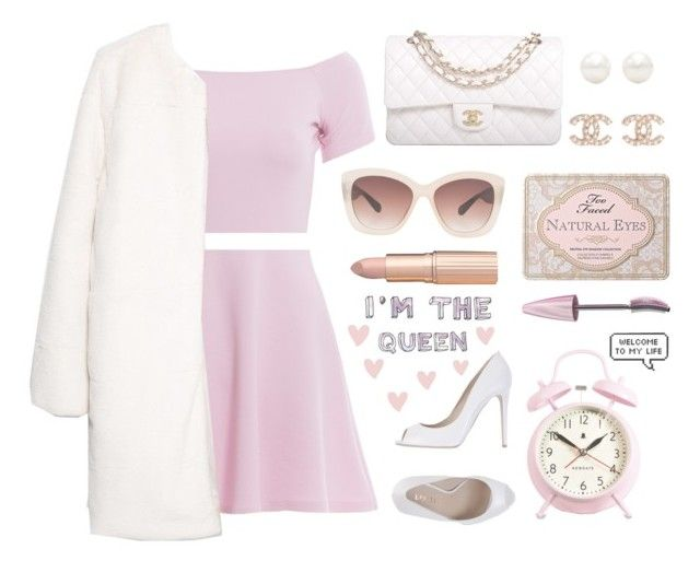 """""""Scream Queens"""" by franchesca-29 ❤ liked on Polyvore featuring moda, AX Paris, MANGO, Chanel, Tiffany & Co., Eloquii, Le Silla, Too Faced Cosmetics, Maybelline i Newgate"""