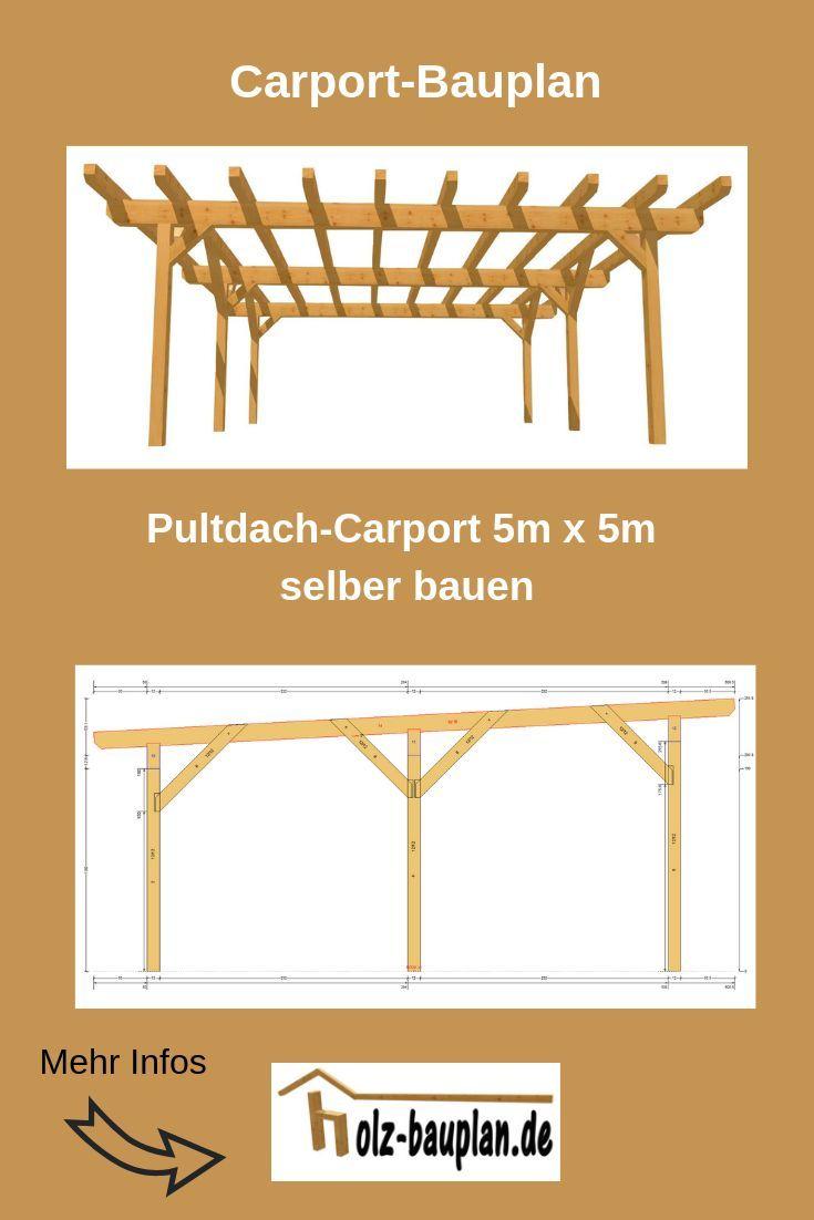 Bauplan Doppel Carport Als Pdf 5m X 5m Carport Selber Bauen Holz Bauplan Carport Selber Bauen Carport Holz Carport Bauen