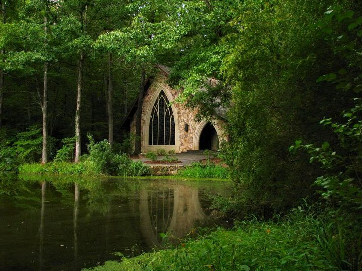 gothic garden---the chapel at Callaway Gardens is a tranquil place.  We visited this spot on our honeymoon almost 35 years ago, and it does not look as though it as changed much---except for the lushness of the trees.