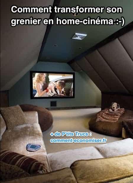 Pourquoi ne pas transformer le grenier en Home-Cinéma ? Le plafond incliné du grenier est idéal pour l'acoustique de la salle. En ajoutant un canapé confortable, on est encore mieux qu'au cinéma. Regardez, ça donne envie, n'est-ce pas ?  Découvrez l'astuce ici : http://www.comment-economiser.fr/comment-transforme-son-grenier-en-home-cinema.html?utm_content=bufferaf58b&utm_medium=social&utm_source=pinterest.com&utm_campaign=buffer