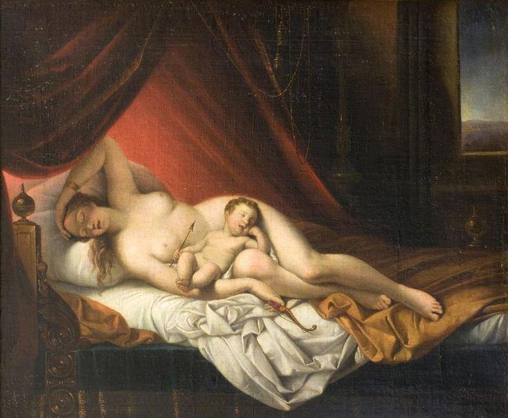 Giuseppe Tominz, Venere e Cupido, 1840 - 1850 circa, olio su tela / Giuseppe Tominz, Venus and Cupid, ca. 1840 - 1850, oil on canvas, Gorizia, Palazzo Coronini Cronberg inv. 186