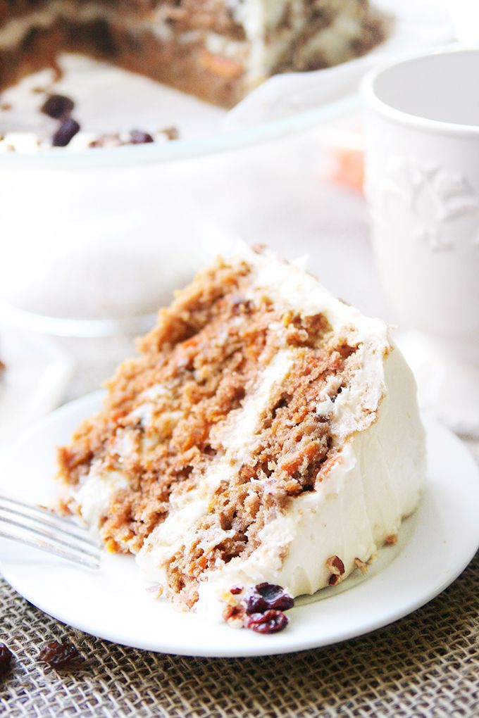Southern Style Carrot Cake | A southern classic. This cake is super moist and full of warm cinnamon!
