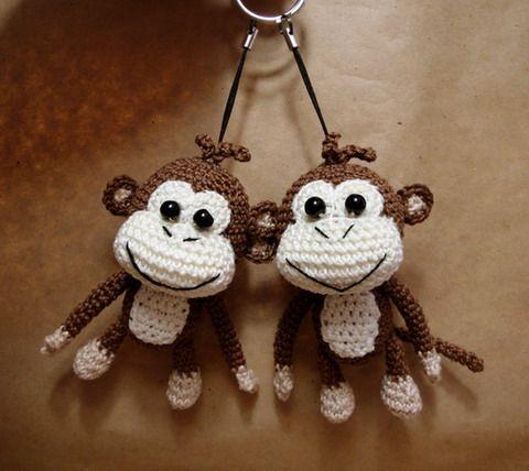 Обезьянки - Игрушки - Галерея - Форум почитателей амигуруми (вязаной игрушки)