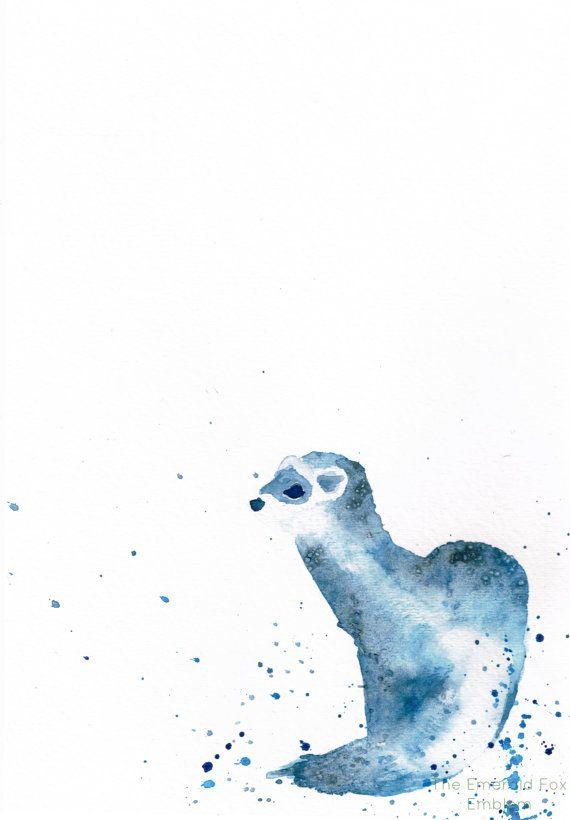 Ferret Watercolor