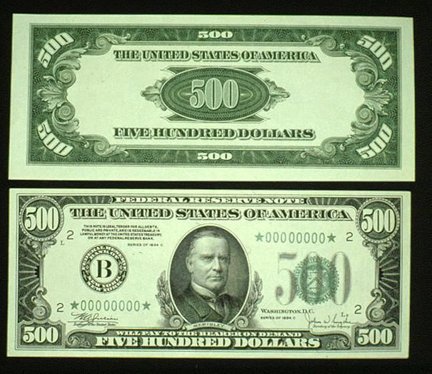 The 5000 dollar bill features James Madison, As of May 30, 2009, there were only 342 $5,000 bills known to exist. Description from bigfooty.com. I searched for this on bing.com/images