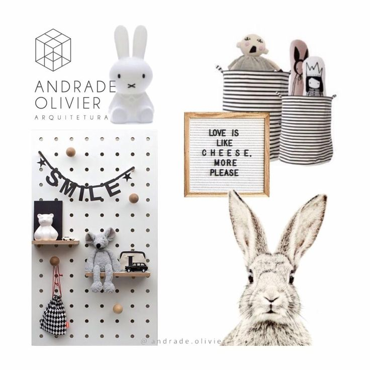 Board decor quarto infantil neutro.  Scandinavian decor for kids. Andrade Olivier Arquitetura