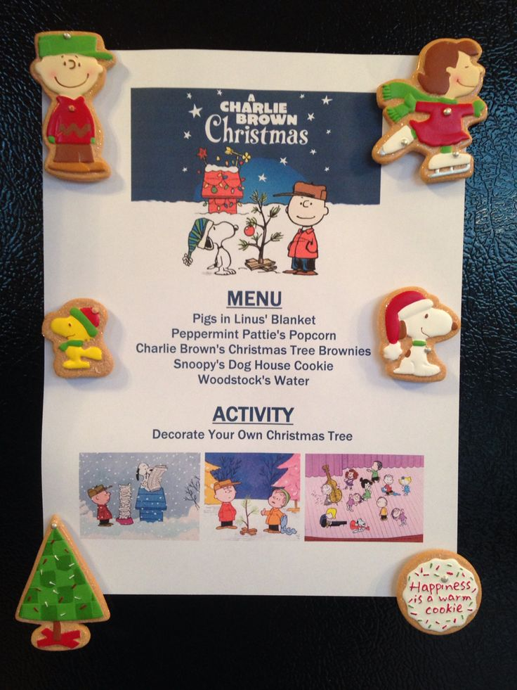 A Charlie Brown Christmas Movie Night Menu