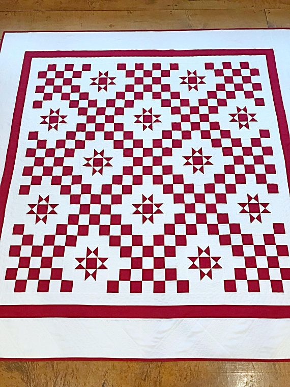 Starlit Path Everyone needs a Red and White Quilt - perfect for Christmas, perfect for a summer picnic. This beautiful new PDF quilt pattern is ideal to make for a Christmas gift or for yourself! With a quick way to make these blocks, there will be no need to cut hundreds of