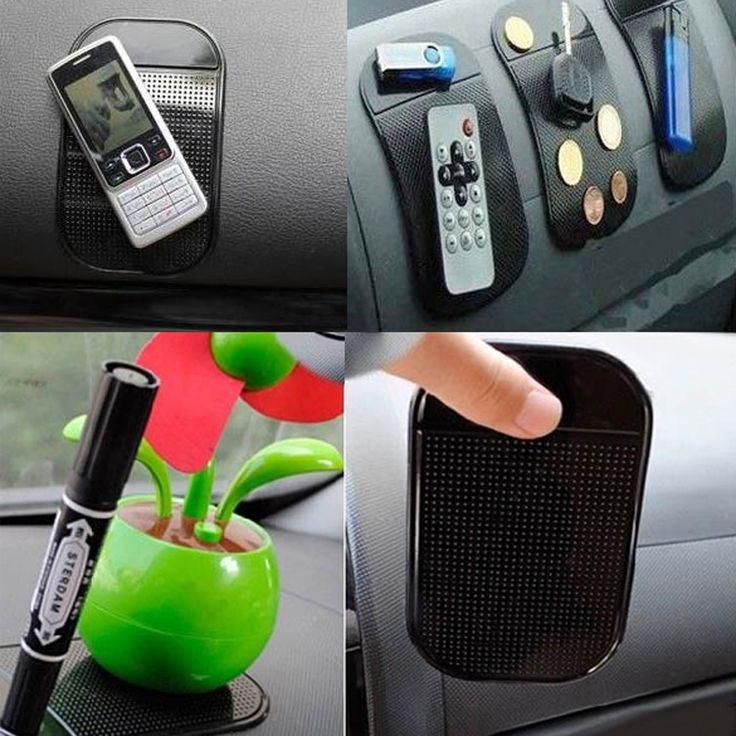 4 PCs Hitam Universal Mobil Sihir Sticky Pad Anti Slip Mat non-slip Sticky Dashboard untuk Ponsel GPS Pemegang Mobil Gratis pengiriman