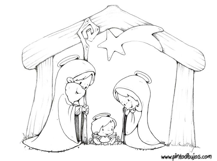 Colouring pages for the nativity : 196 best Christmas winter coloring pages images on Pinterest