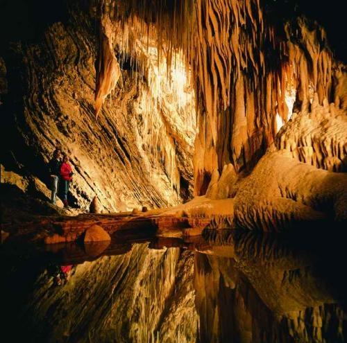 Mole Creek Karst National Park. Tasmania has some beautiful caves to explore including Australia's largest glow-worm display.