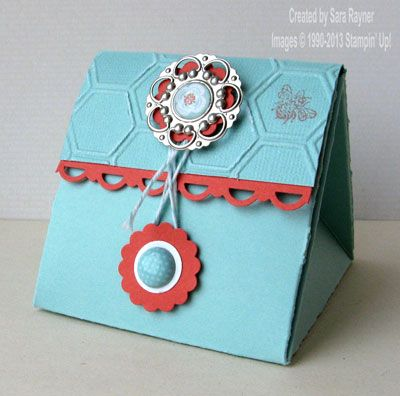 Honeycomb exploding triangle box - Stampin' Up!