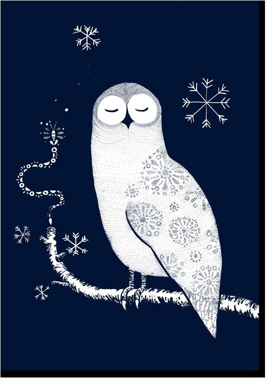 Owl poster by Antti Heikkinen