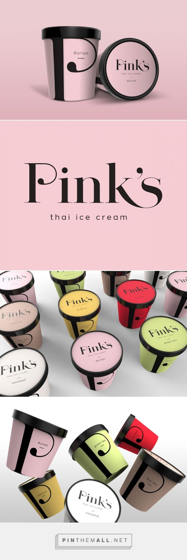Pink's Thai Ice Cream (Concept) on Packaging of the World - Creative Package Design Gallery - created via http://pinthemall.net