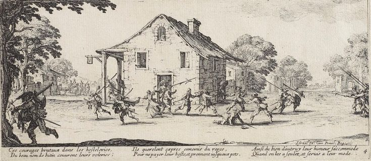 Scene of pillage, (1633), The Miseries and Misfortunes of War by Jacques Callot :: The Collection :: Art Gallery NSW