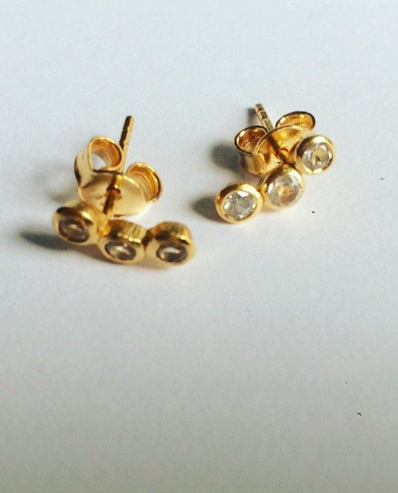 Trio of Stella stud earrings / cosmos collection / Black Betty