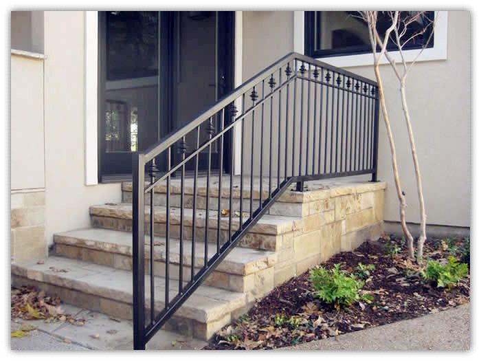 Rustproof wrought iron railings metal railing outdoor - Exterior wrought iron handrails for steps ...