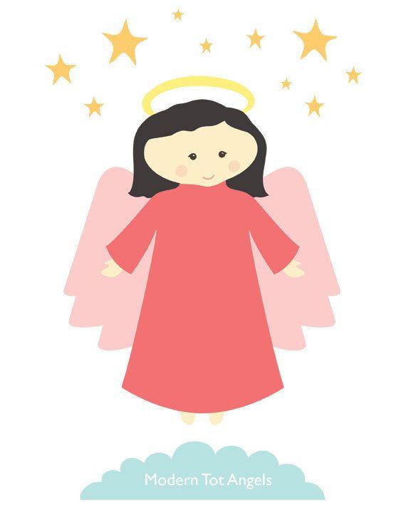 Angel Judy Modern Wall Art Print PDF Digital Download