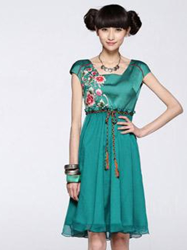 Nextwholesale.com…..new arrival…the most popular #clothing in #China,   #shirt,#dress,#pant,#tops  #Wholesale embroidery ladies fashion chiffon designs belted dress  Wholesale embroidery ladies fashion chiffon designs belted dress