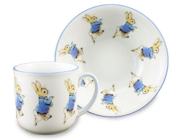 Peter Rabbit Porcelain Mug and Bowl