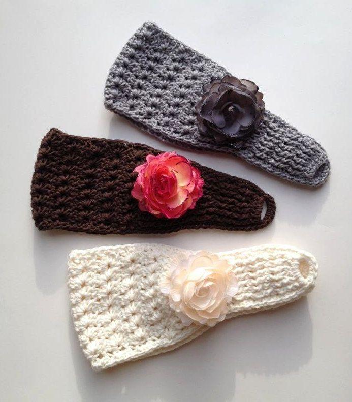 Moderno Crochet Patrones Earwarmer Colección - Manta de Tejer Patrón ...
