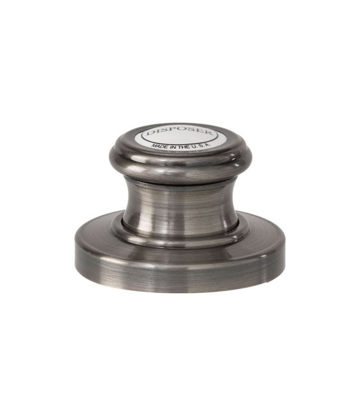 Waterstone 4010 Traditional Deck Mounted Air Switch for Garbage Disposal Antique Pewter Accessory Air Switch Deck Mounted