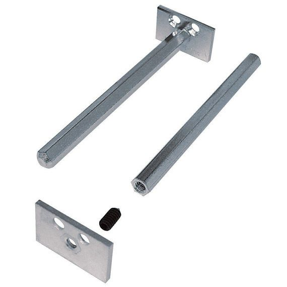 8 Inch Deep Hidden Shelf Brackets FREE SHIPPING to be installed on my wood slab, quantity of 2, floating shelf supports for invisible mount