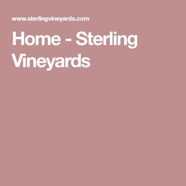 Home - Sterling Vineyards