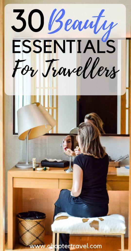 30 beauty essentials for travellers, what to bring with you in your carry-on. These 30 beauty essentials for travellers can be packed in your carry-on! Beauty products for travellers