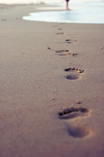 One night a man had a dream. He dreamed he was walking along the beach with the Lord. Across the sky flashed scenes from his life. For each scene he noticed two sets of footprints in the sand: one belonging to him, and the other to the Lord.