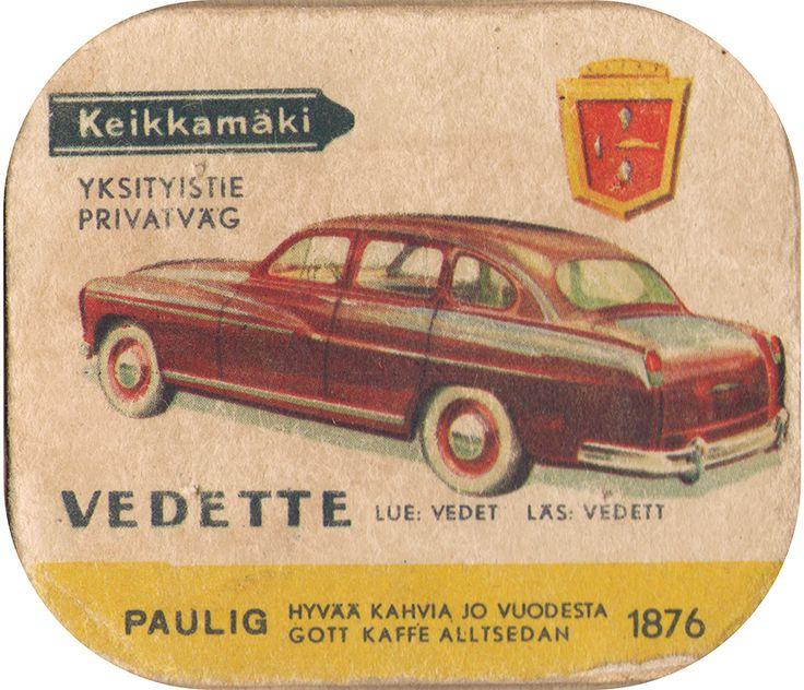 En nostalgitripp fram till jul med hjälp av Pauligs bilkort från mitten av 1900-talet. Vedette #cars #vintage
