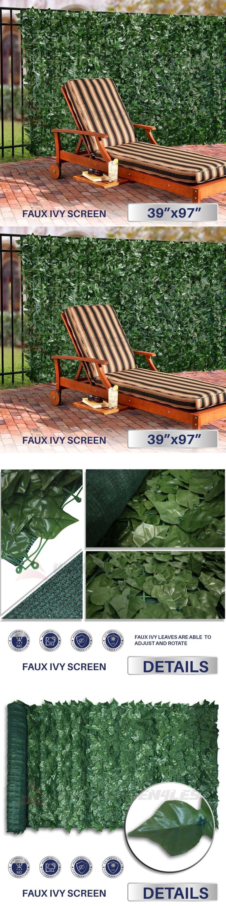 Privacy screen for chain link fence ebay - Privacy Screens Windscreens 180991 Artificial Privacy Fence Roll Screen Faux Ivy Mesh Windscreen Leaf Cover