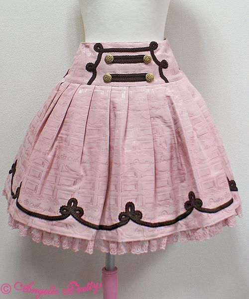 awesome Angelic Pretty - Skirt - Melty Whip Chocolate Skirt by http://www.polyvorebydana.us/gothic-fashion/angelic-pretty-skirt-melty-whip-chocolate-skirt/